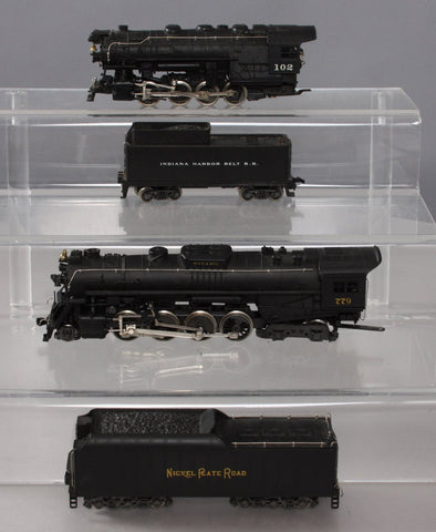 Rivarossi HO Scale Nickel Plate Road & Indiana Harbor Belt Steam Locomotives w/T