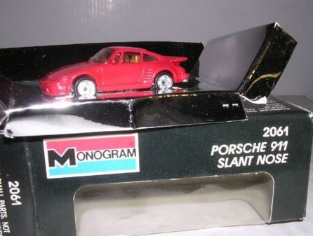 "Monogram 2061 HO ""Mini Exacts"" Porsche 911 Slant Nose ""Red"""
