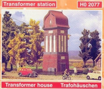 Revell 2077 HO Transformer Station Building Kit