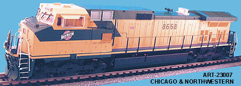 Aristo-Craft 23007 Chicago & North Western Dash 9-44CW Diesel Locomotive #8668