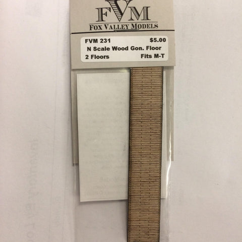 Fox Valley Models 231 N Wood Gondola Floor Fits M-T