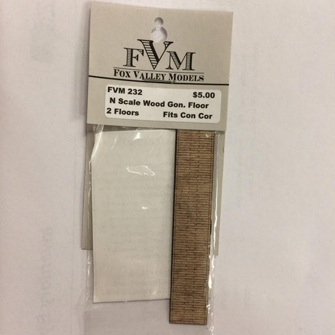Fox Valley Models 232 N Wood Gondola Floor Fits Con Cor