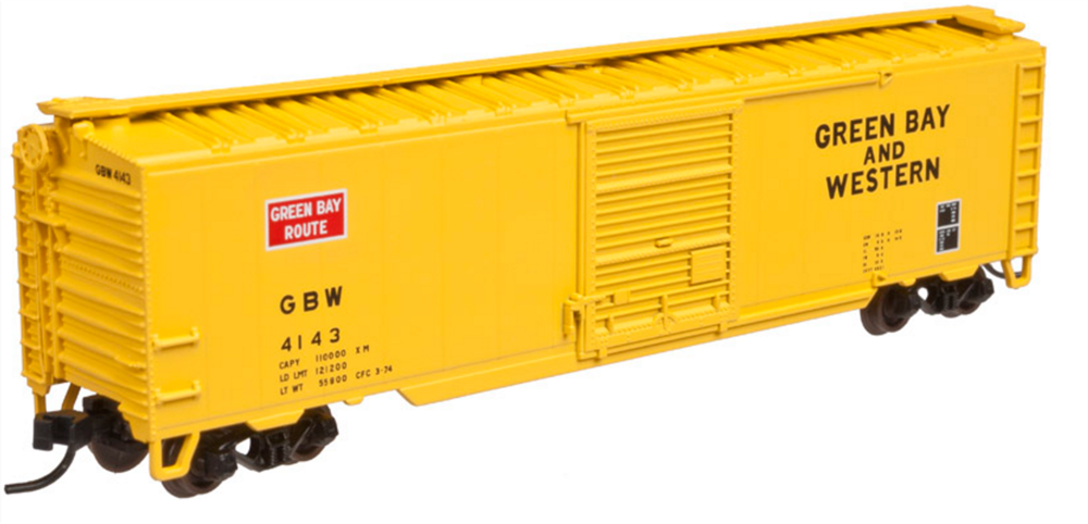Atlas 50002358 N Green Bay Western 50' Single Door Boxcar #4140