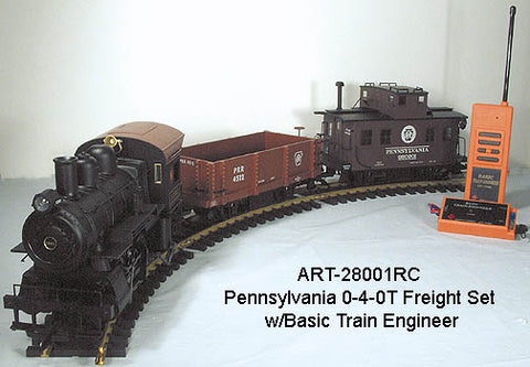 Aristo-Craft 28001RC PRR 0-4-0 Freight Set
