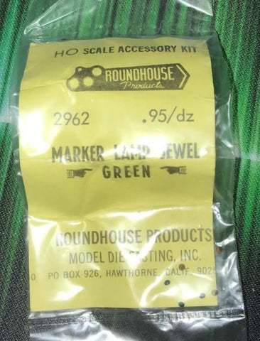Roundhouse 2962 HO Marker Lamp Jewel Green