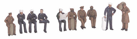 MTH 30-11065 10-Piece Army/Navy Figure Set
