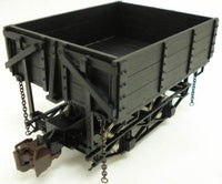 Bachmann 92503 Black Woodside Dump Car - Metal Wheels