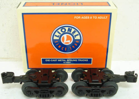 Lionel 6-14251 Die-Cast Metal Sprung Trucks w/Rotating Bearing Caps (Pr.) NIB