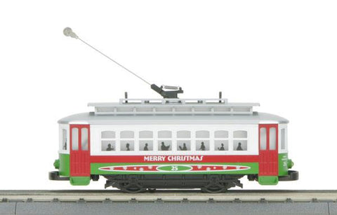 MTH 30-4172-1 Christmas Trolley R-T-R Train Set