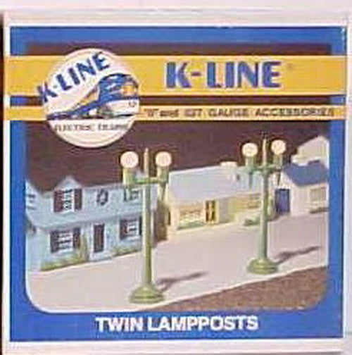 K-Line K109 Set of 2 Lighted Twin Lamppost