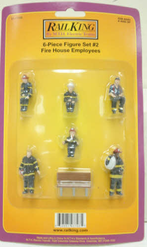 MTH 30-11046 Fire House Employee Figures (Pack of 6)