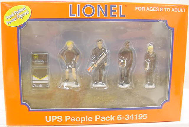 Lionel 6-34195 O UPS Delivery Figures #2 (Pack of 5)