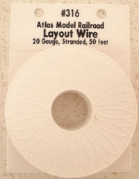 Atlas 316 50 Ft. Red 20 Gauge Layout Hookup Wire