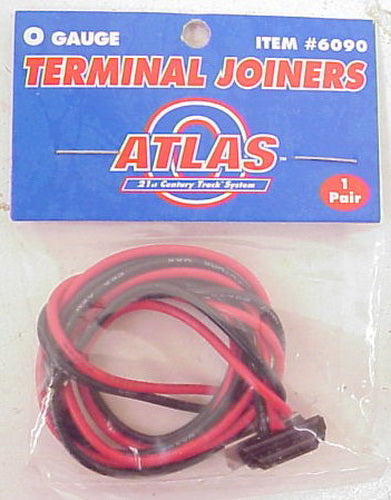 Atlas 6090 O Gauge Terminal Joiners with Wire  (Pair of 2)