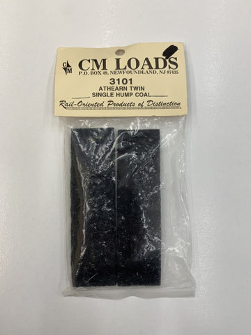 CM Loads 3101 HO Scale Athearn Twin Single Hump Coal Load  (Pack of 2)