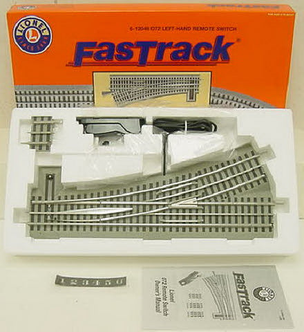Lionel 6-12048 O FasTrack O72 Left Hand Remote-Control 2-Way Switch Turnout LN