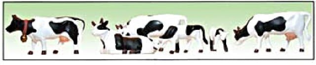 Model Power 6175 Black & White Cows & Calves Figures