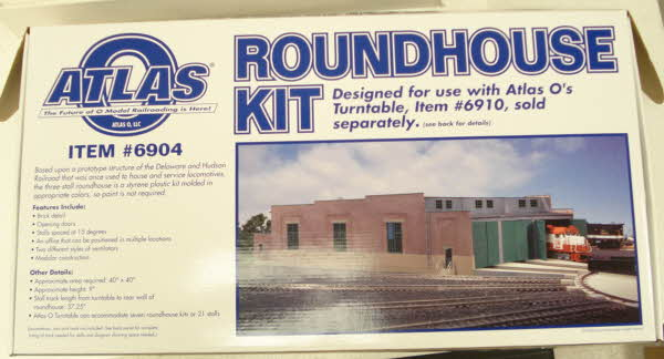 Atlas 6904 O Scale 3 Stall Roundhouse - Kit