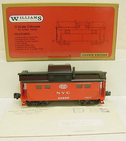 Williams 1103 BRASS NYC Illuminated Caboose w/Smoke