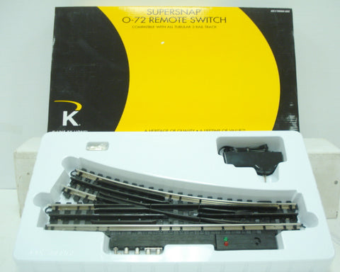 "Lionel 6-21400 O 72"" SuperSnap Right Hand Remote Control Switch Turnout"