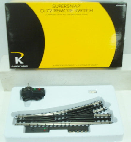 "Lionel 6-21399 O 72"" SuperSnap Left Hand Remote Control Switch Turnout"