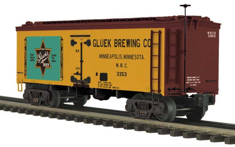 MTH 20-94355 Gluek Brewing Co. 36' Woodsided Reefer Car