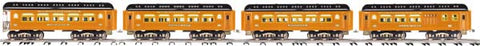 MTH 10-5088 Standard Gauge Black/Orange Ives 240 Passenger Car Set (4)