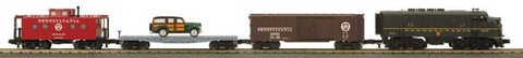 MTH 30-4197-0 PRR F-3 R-T-R Freight Set w/Horn & Bell