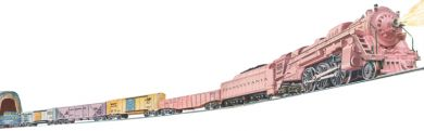 Williams 00307 O Girl's Steam Freight Train Set