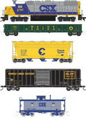 Atlas 0033 HO CSX GP38-2 Train Set