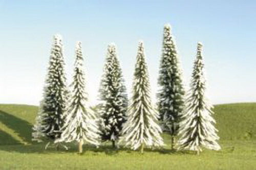 "Bachmann 32102 N Pine Trees 3""-4"" with Snow (Pack of 9)"