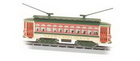 Bachmann 61085 N Christmas Brill Trolley