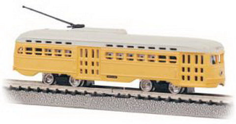 Bachmann 62998 PCC Trolley--Undecorated Yellow
