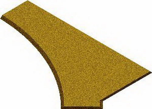 Midwest Products 3035 O31 RH/LH Switch Cork Roadbed Pad