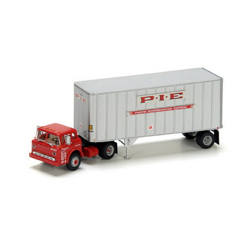 Athearn 90983 HO PIE Ford C w/28' Ribbed Trailer RTR