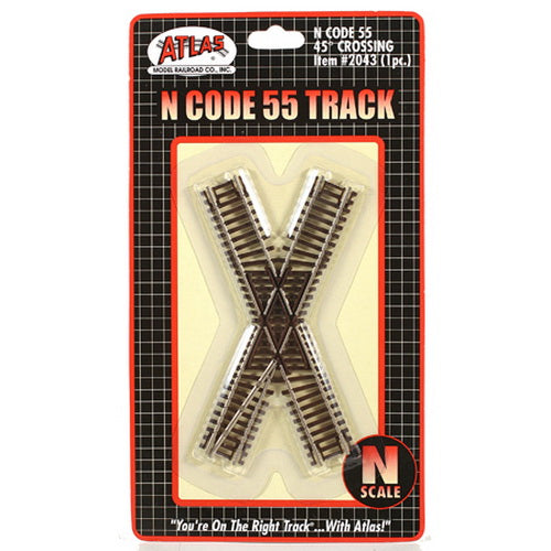 Atlas 2043 N Scale Code 55 45 Degree Crossing