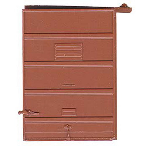 Kadee 2239 HO 7' Foot 5 Panel Superior High Tack Board Doors in Boxcar Red