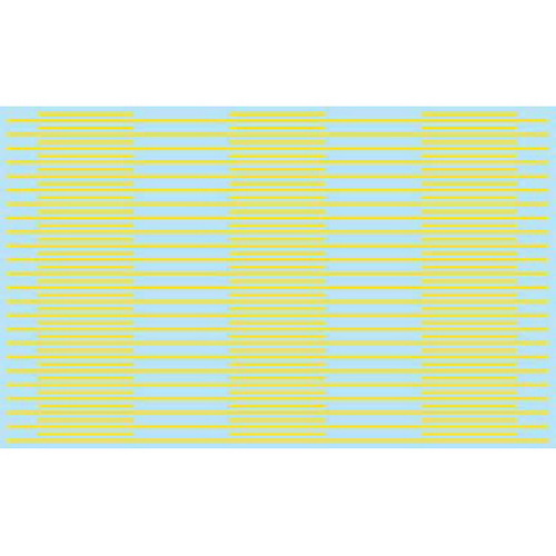 Kadee 3124 HO Sheet of Street Decal Solid Dashes in Yellow
