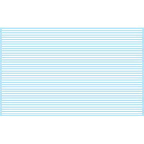 Kadee 3125 HO Sheet of Street Decal Solid Dashes in White