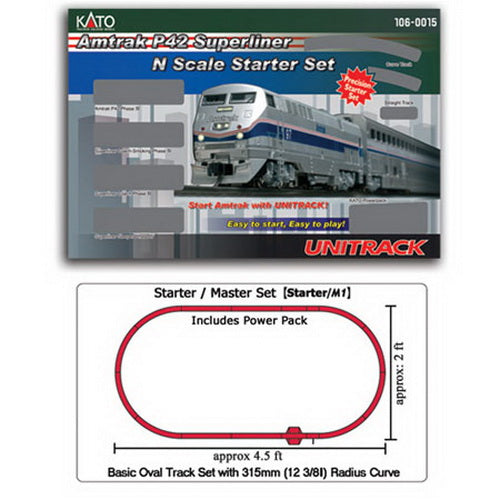 Kato 106-0015 N Scale Amtrak P42 Superliner Starter Set