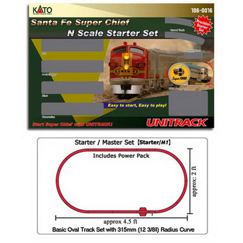Kato 106-0016 Santa Fe Super Chief Starter Set