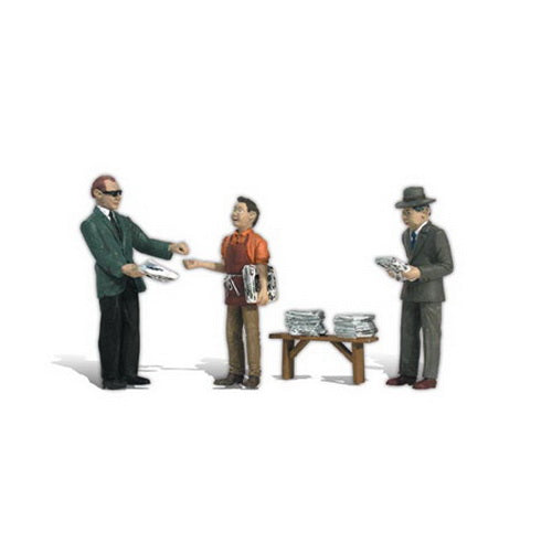 Woodland Scenics A2559 G Scale Ned's Newsstand Figures