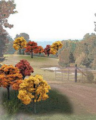 "Woodland Scenics TR1576 2"" - 3"" Fall Colors Deciduous Trees (Pack of 23)"