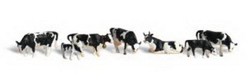 Woodland Scenics A2724 O Scenic Accents Holstein Cow Figures (Pack of 11)