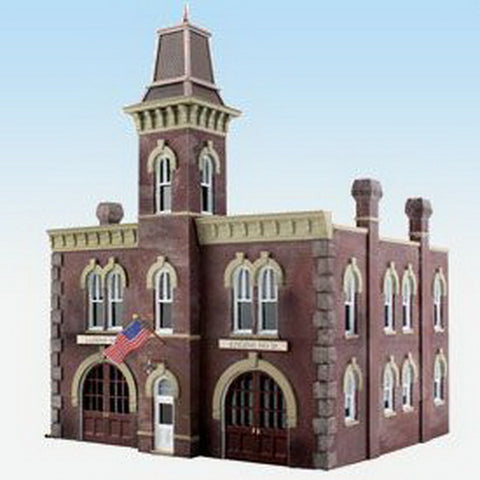 Woodland Scenics BR5034 HO Scale Firehouse LN/Box