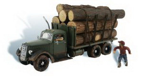 Woodland Scenics AS5553 HO Scale Tim Burr Logging Stake Truck