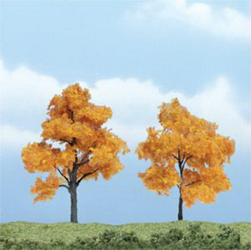 "Woodland Scenics TR1604 3"", 2.40"" Fall Maple Premium Trees (Pack of 2)"