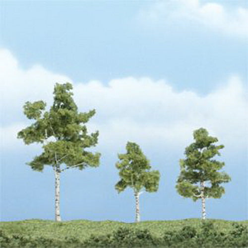 "Woodland Scenics TR1605 2.75"",1.50"",2.25"" Paper Birch Premium Trees (Pack of 3)"