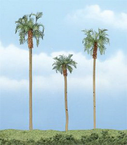 "Woodland Scenics TR1617 4.5"", 3"", 4"" Royal Palm Ready-Made Premium Trees"