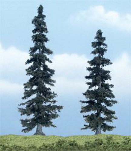 "Woodland Scenics TR1621 5"", 4"" Spruce Ready-Made Premium Trees (Pack of 2)"